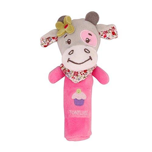 IGEMY Neueste Tiere Handglocken, Musical Baby Soft Yak Spielzeug Entwicklungs Rassel Bett Puppen für Kinder (D) -