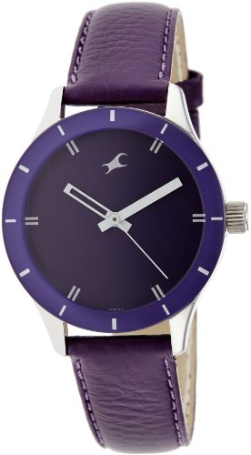 Fastrack Monochrome Analog Purple Dial Women's Watch - 6078SL05 image