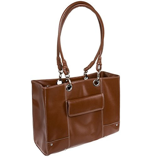 mcklein-usa-serena-ultra-smooth-high-gloss-faux-leather-laptop-bag-brown