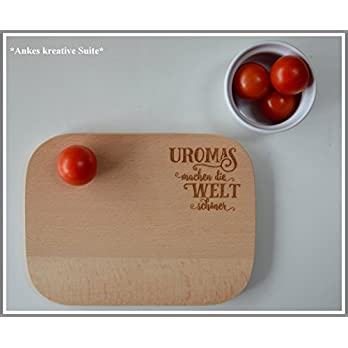 Frühstücksbrett mit Gravur | Perfekte Geschenkidee für Uromas