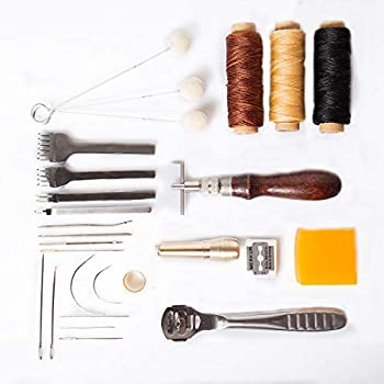 MultiWare 13 In 1 Leather Craft Hand Sewing Tools Awl Thimble Waxed Thread DIY Sewing Tool Kits
