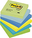 Post-it 654MTDR Haftnotiz Rainbow Notes, 76 x 76 mm, 6 Farben Dreamy Collection, 100 Blatt, 6 Block - in weiteren Größen verfügbar
