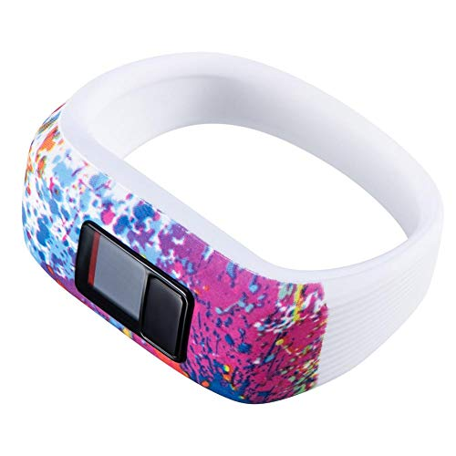 WanNing Für Garmin Vivofit JR JR2 VivoFit3 Primärer Fitness Tracker Ersatzgurt Größe S/L Integrierter Silikon-Handschlaufe - Größe Spazierstock, Kind