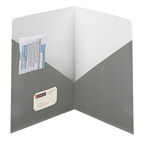SMEAD modernes Classic two-pocket Datei Ordner, bis zu 50Blatt, Brief Größe, Blau Grau, 25pro Karton (87991) (Colored Smead Datei-ordner)