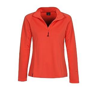 Bergson Damen Skirolli Pearl – sportlich, leistungsstark, wärmend, Frontreißverschluss mit Kinnschutz