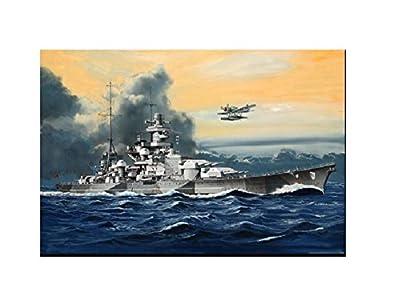 Revell Modellbausatz Schiff 1:1200 - Battleship Scharnhorst im Maßstab 1:1200, Level 4, originalgetreue Nachbildung mit vielen Details, 05136 von Revell