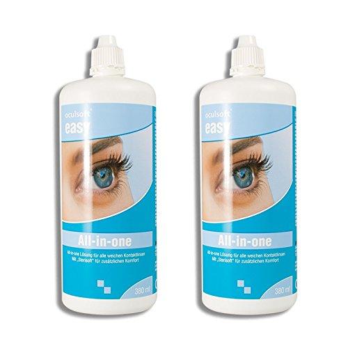 Oculsoft ® Easy All-in-One Lösung 2 x 380ml Doppelpack Pflegemittel für Kontaktlinsen