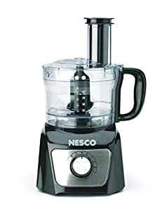 Nesco FP-800 Food Processor – Food Processors (Black, Stainless Steel, transparent, Stainless Steel)