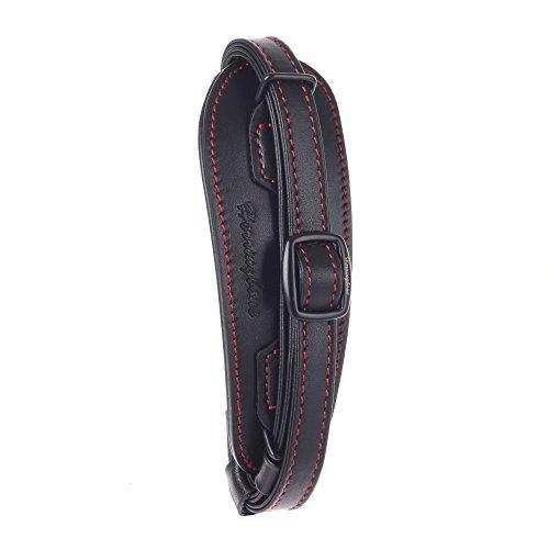 Herringbone Heritage Kamera-Handschlaufe Camera Hand Grip Leather Handschlaufe Trageschlaufe Handgelenkschlaufe für DSLR Type1 Universal Passend - Canon Nikon Sony H10081 (Black with Red Stitching) (Herringbone New)