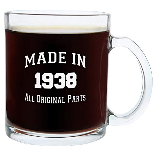 80th Birthday Gift Ideas Made 1938 80th Birthday Party Supplies Gift Glass Coffee Mug Tea Cup White