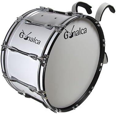 Gonalca Percusion 4093 - Bombo marching 66 x 35 con hombrera, color blanco