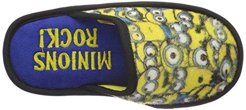 MINIONS Jungen Boys Kids Pancake/Mule Houseshoes Pantoffeln Mehrfarbig (WHT/BLK 020)