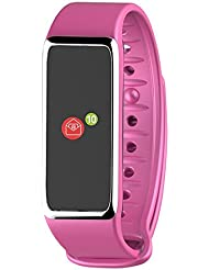 MyKronoz KRZEFIT3HR Activity Tracker, Pink/Silver, UNIVERSAL
