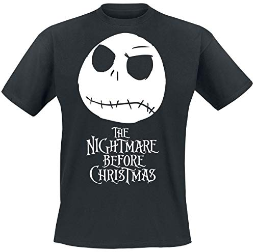 Nightmare before Christmas The Jack Head T-Shirt schwarz M (Shirt Nightmare Before Christmas)