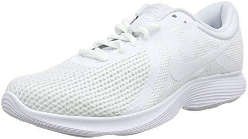 Nike Herren Revolution 4 EU Laufschuhe, Weiß (White/White/Pure Platinum 100), 44.5 EU (Herren Schuhe Nike Air Jordan)