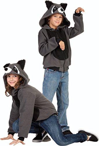 ' Rocky Raccoon Hoodie, Child Small/Size 4-6 (Baby Rocky Kostüm)