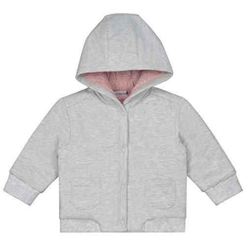 Prénatal Baby Mädchen Jacke Sweatjacke mit Kapuze Grau Größe 56