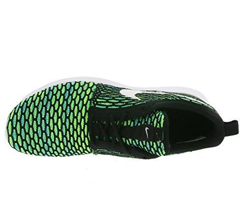 Nike Herren Men's Roshe Nm Flyknit Shoe Gymnastik Black (schwarz / weiß-grün-Volt - Spannung)