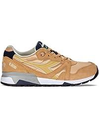 Diadora K-Run W Sneaker a Collo Basso, Donna, Bianco (BCO/AZZ Ciano/Arancio Chiaro F), 36 EU (3.5 UK)