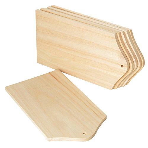 VBS Frühstücks-Brettchen, 6 Stück, aus Holz, ca. 21 x 12 cm