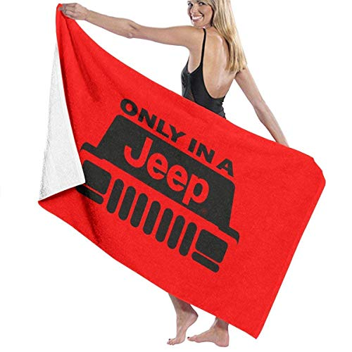 fgjfdjj Beach Towels Unisex Cherokee Xj Wrangler Wago Soft 31 x 51 inches Cherokee Warm-up