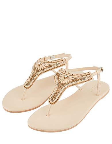 Accessorize Damen Sandalen mit Raffiabast Cairo Sandalen - Schuhe 40