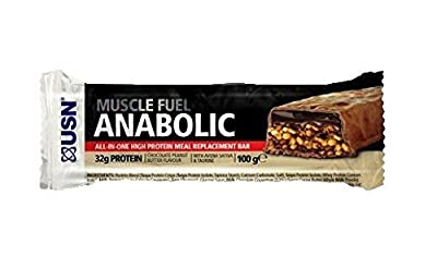 USN M/F Anabolic Bar Choc Peanut 100g (Pack of 12) from USN