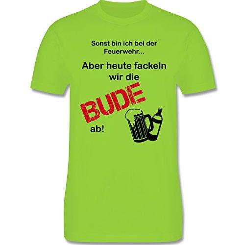 JGA Junggesellenabschied - Heute fackeln wir die Bude ab! - Herren Premium T-Shirt Hellgrün