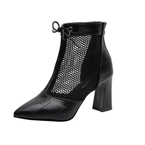 Wawer Damen 2019 Neu Schuhe Flache Schuhe Mesh High Heel Dick Mit Spitzen Schuhen Freizeitschuhe - Sparkle Mesh-sandalen