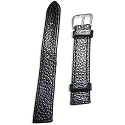 Enez Genuine Leather Leather Watch Band Width 16mm Ersatzarmband Black T151