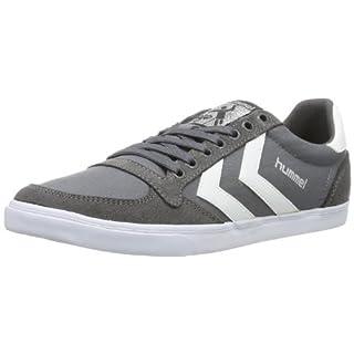 hummel Unisex-Erwachsene Slimmer Stadil Low Sneakers, Grau (Castle Rock/White KH), 43 EU (9 Erwachsene UK)
