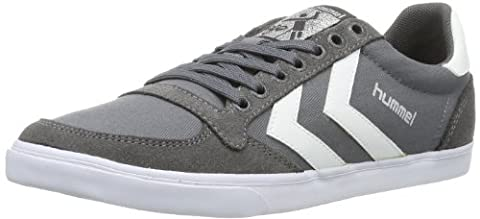 hummel HUMMEL SLIMMER STADIL LOW, Unisex-Erwachsene Sneakers, Grau (Castle Rock/White KH), 44 EU (9.5 Erwachsene UK)