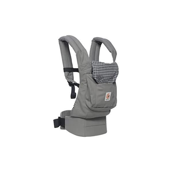 "Ergobaby Baby Carrier Toddler Front Back Original Steel Plaid, 100% Cotton Ergonomic Child Carrier Backpack Ergobaby Ergonomic Baby Carrier - Ergonomic for baby with wide deep seat for a spread-squat, natural ""M"" seated position. Baby carrying system with 3 carry positions:  front-inward, hip and back. From baby to toddler: 5.5*-15 kg (* from 3.2-5.5 kg / 7-12 lbs with Infant Insert, sold separately). Wearing comfort - All-day comfort with extra-padded shoulder straps (1 inch high density foam) and padded waistbelt  (1/4 inch) 5"