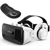 Juego de Gafas VR de 360 Grados con Mando a Distancia, Auriculares estéreo HiFi para