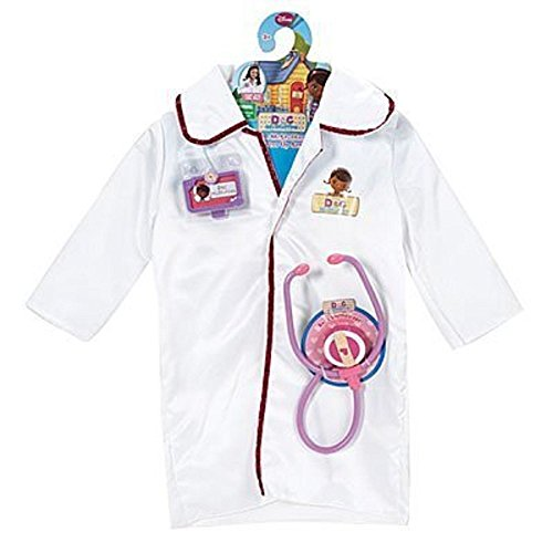 Disney Doc McStuffins Dress Up Doctor Coat Costume Set by Just (Mcstuffins Doc Kostüme Dress Up)