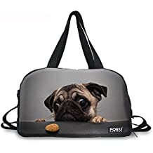 3d Cute Bulldog Francés patrón casual Style Hombre/Mujer Yoga Bolsa de lona bolsa de viaje Bolso/Bandolera, Bulldog