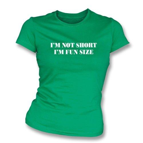 TshirtGrill Ich bin nicht ich bin der Slimfit-T-Shirt der Spaß-Größen-Frauen kurz, Farbe- Kelly-Grün