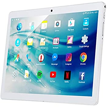 Qimaoo Tablette Tactile 10.1 Pouces Android 7.0,Tablette PC à Double Caméra et Double Slot de SIM Carte,1280x800 HD IPS Écran dAffichage Quad Core ...