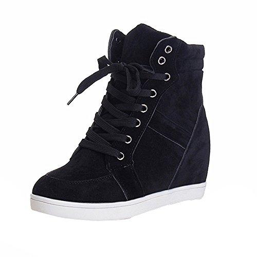 GiveKoiu Scarpe da Ginnastica Donna Moda Benessere Dimagranti Sportive Fitness  Sneakers Zeppa Interna 5CM Casual Cunei 098419c9c43