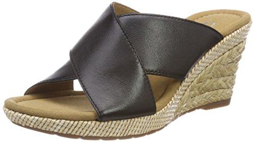 Gabor Shoes Damen Comfort Sport Riemchensandalen, Schwarz (Schwarz (Bast)),  43 EU 1face0bbd4