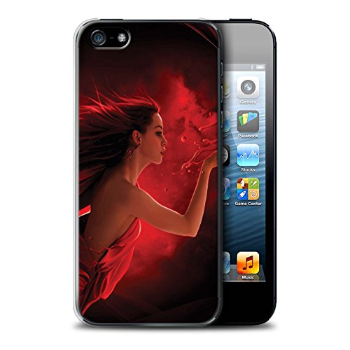 Officiel Elena Dudina Coque / Etui pour Apple iPhone 5/5S / Masque d'Hiver Design / Un avec la Nature Collection Éclaboussure Rouge