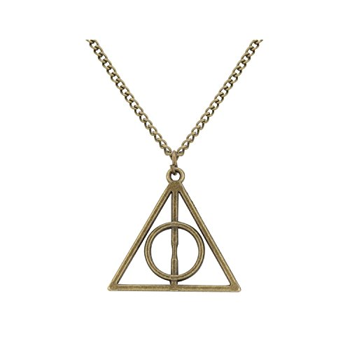 Accessorisingg HP Inspired Bronze Deathly Hallows Pendant [PD069d]
