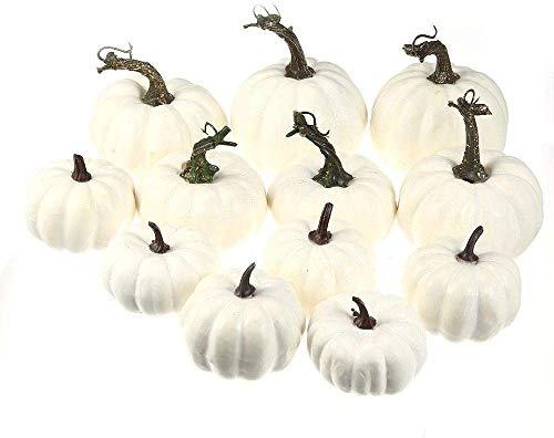 Jinqiwenhua zucche di halloween con mini schiuma di zucca artificiale - zucche di simulazione per decorazioni per feste, giardino di casa, raccolta autunnale, ornamenti per il ringraziamento