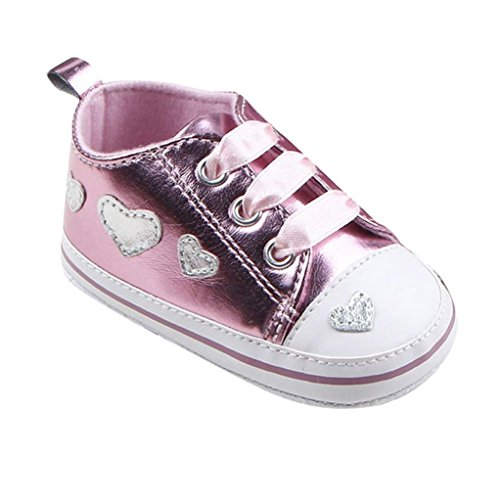 Jamicy® Baby Mädchen Schuhe Mode Leater Soft Sole Krippe Rosa