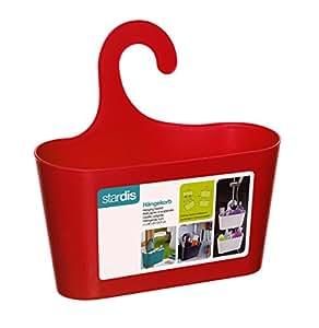duschkorb rot mit haken zum einh ngen duschregal badregal bad utensilo h ngeregal. Black Bedroom Furniture Sets. Home Design Ideas