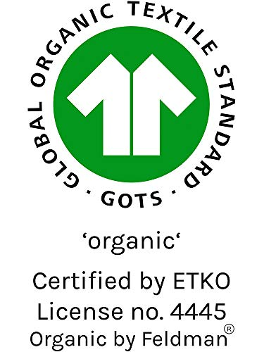 Organic by Feldman Unisex Baby Body Langarm Wickelbody aus Bio Baumwolle, GOTS Zertifiziert, Schutzengel Ozeanblau, (50/56) - 5