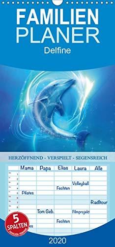 Delfine - Kalender - Familienplaner hoch (Wandkalender 2020 , 21 cm x 45 cm, hoch): Verspielte Delfine an deiner Seite (Monatskalender, 14 Seiten ) (CALVENDO Gesundheit)