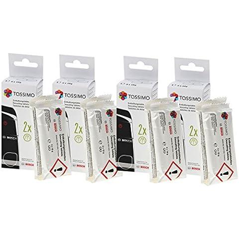 4 Pack - Bosch TCZ6004 cajas de pastillas antical para todos los Tassimo multi-bebidas-automáticas