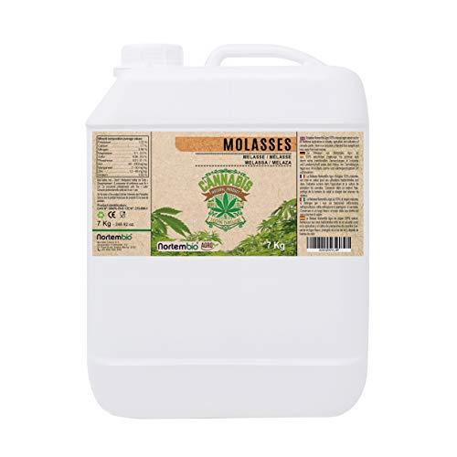NortemBio Agro Melaza Natural 7 Kg. Especial para Cultivos de Cannabis y Marihuana. Mejora su Crecimiento y Floración. No Sulfurada. Producto CE.