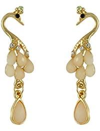 Sarah Peacock Faux Stone Drop Earring For Women
